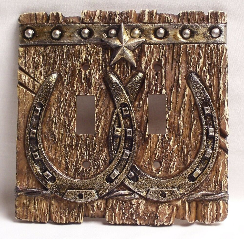 Western Double Light Switch Plate/Cover Rustic Home