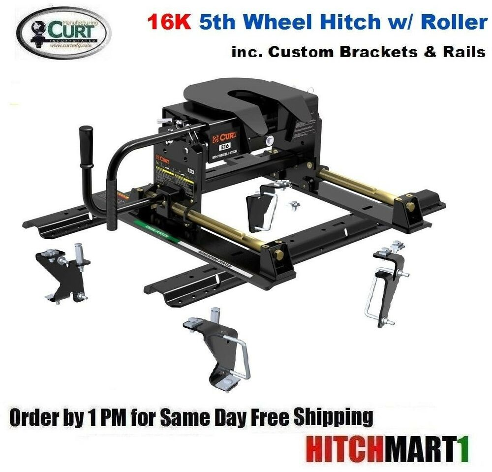 5th Wheel Travel Trailers: E16 CURT 5TH FIFTH WHEEL TRAILER HITCH PACKAGE W ROLLER