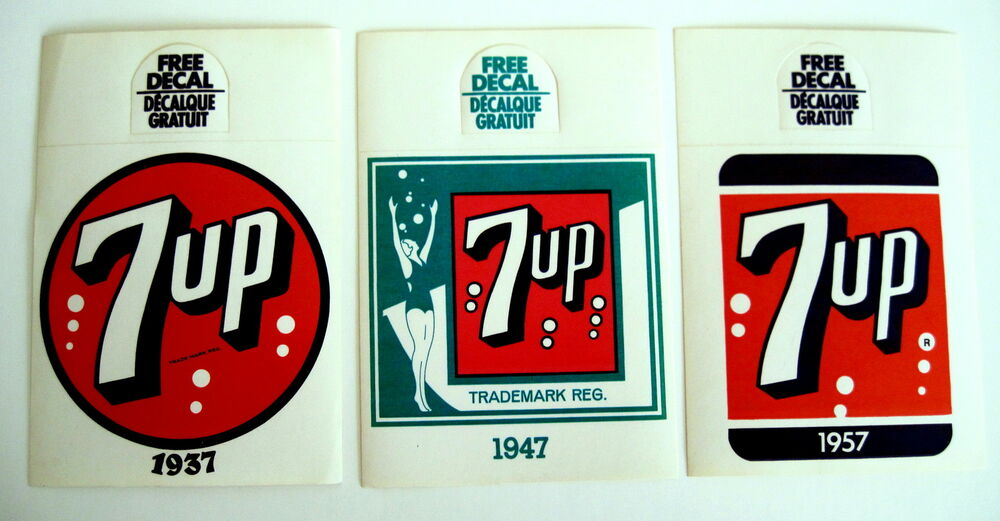 3 7 UP Bottle Topper Hangers Advertising Different 7up