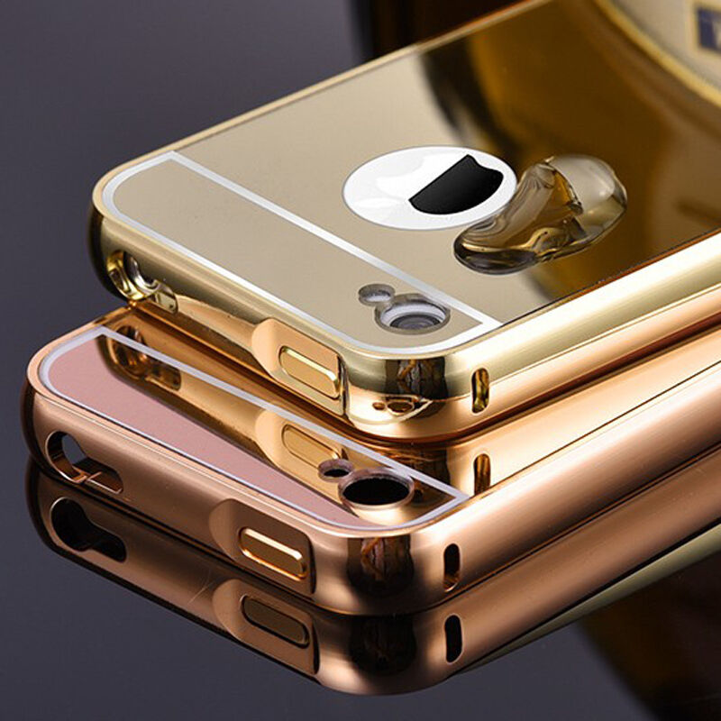 metal iphone case new luxury aluminum metal ultra thin mirror back 12624