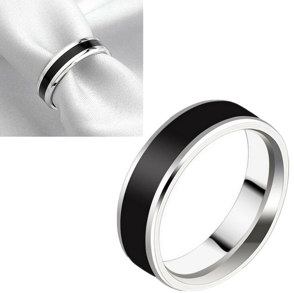 new fashion jewelry black titanium band stainless steel. Black Bedroom Furniture Sets. Home Design Ideas