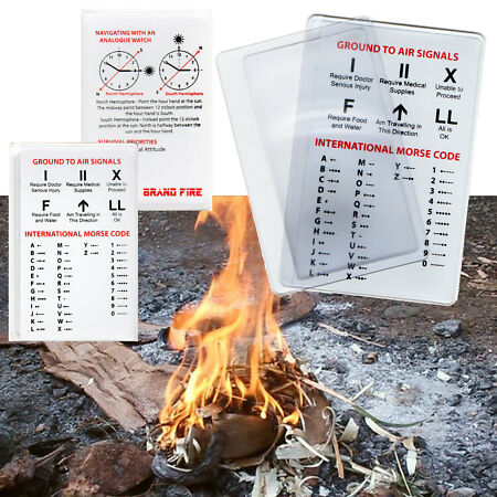 img-Credit Card Magnifying Fresnel Lens - Survival Kit Fire Lighter Camping Preppers
