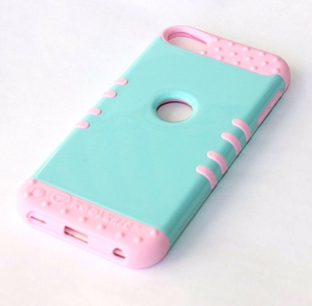 iPod Touch 5th 6th Gen - HARD&SOFT RUBBER HYBRID SKIN CASE ...