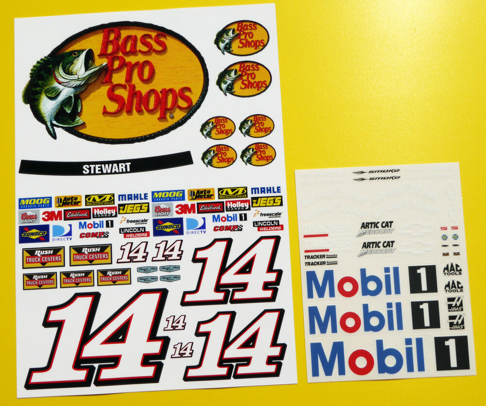 rc nascar 39 bass pro shops 39 stewart style decals stickers. Black Bedroom Furniture Sets. Home Design Ideas