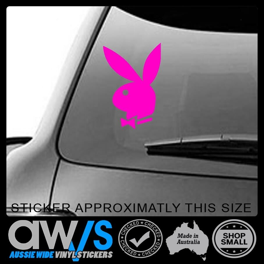 Details about playboy sticker decal for girl cute sexy play boy car window girls