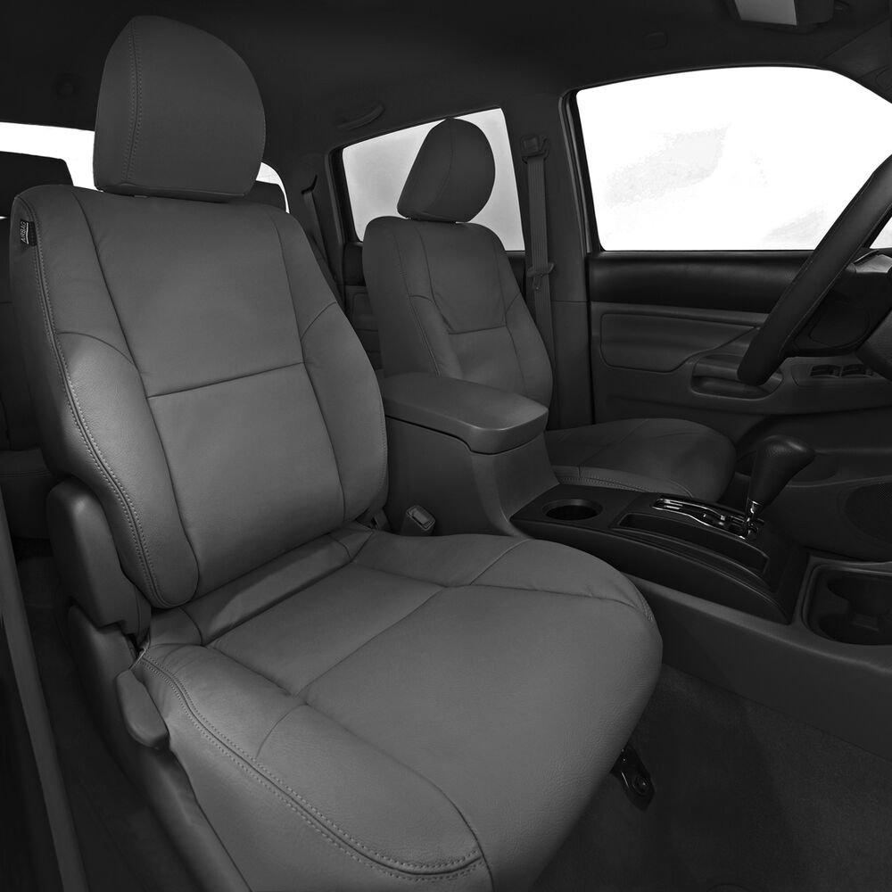 2012 2015 toyota tacoma double cab sr5 katzkin grey leather interior seat cover ebay. Black Bedroom Furniture Sets. Home Design Ideas