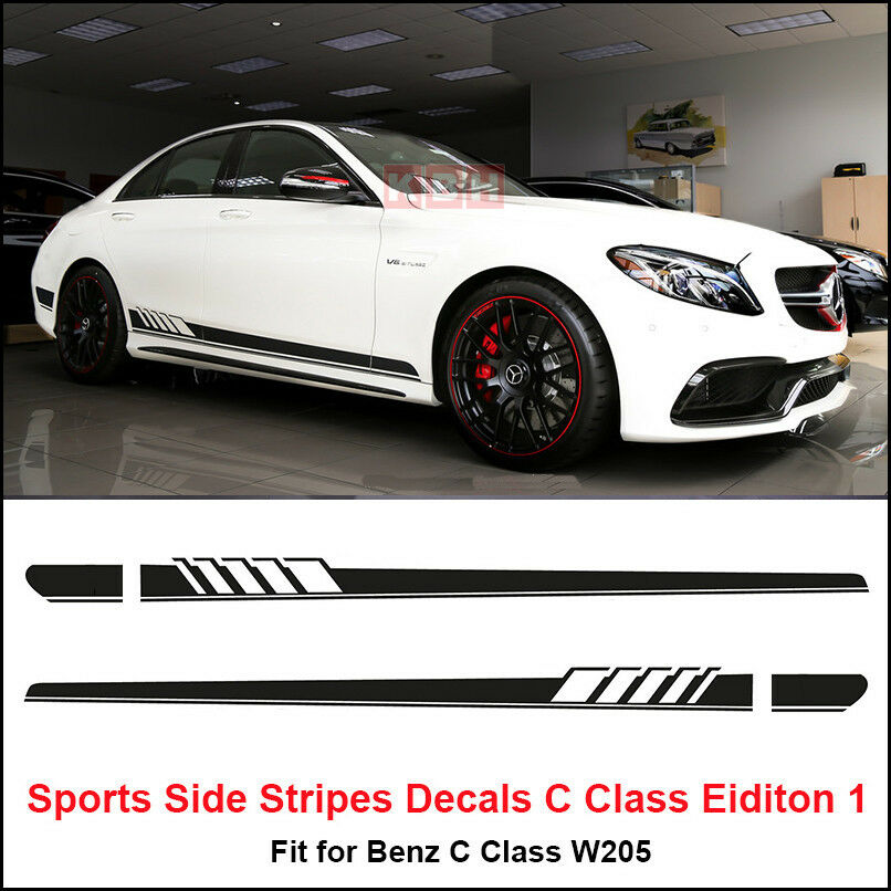 Edition 1 Side Stripes Decal Sticker For Mercedes Benz