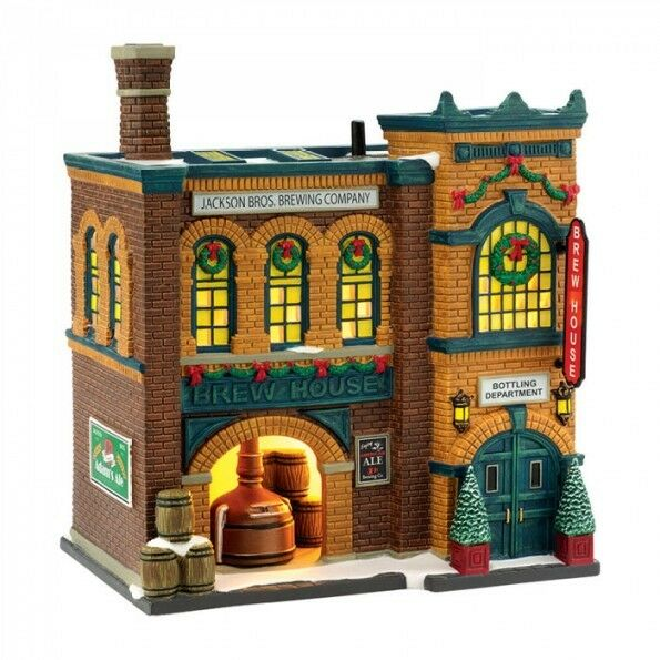 dept 56 christmas in the city brew house 4036491 brand new ebay. Black Bedroom Furniture Sets. Home Design Ideas