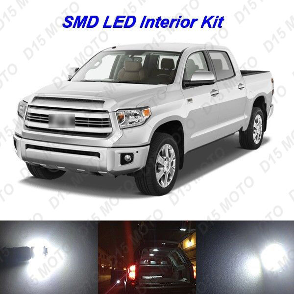 18 X Ultra White Smd Led Interior Lights Kit For 2007 2015 2016 Toyota Tundra Ebay