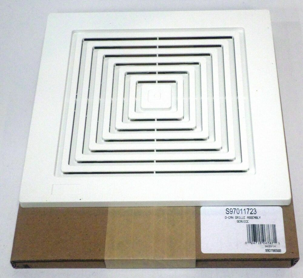 97011723 Broan Bath Bathroom Ceiling Fan Grille Grill Cover Plastic White Color Ebay