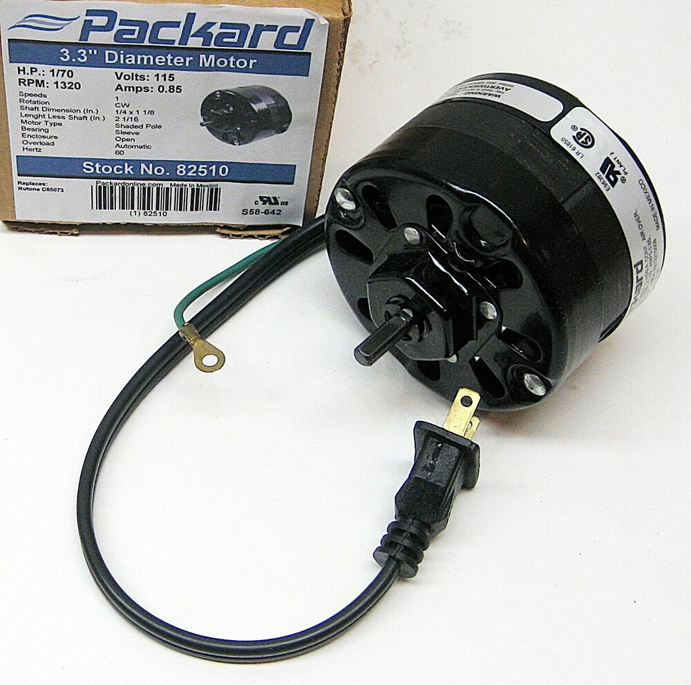 82510 For Nutone Bathroom Fan Vent Motor C65073 65073 Ebay