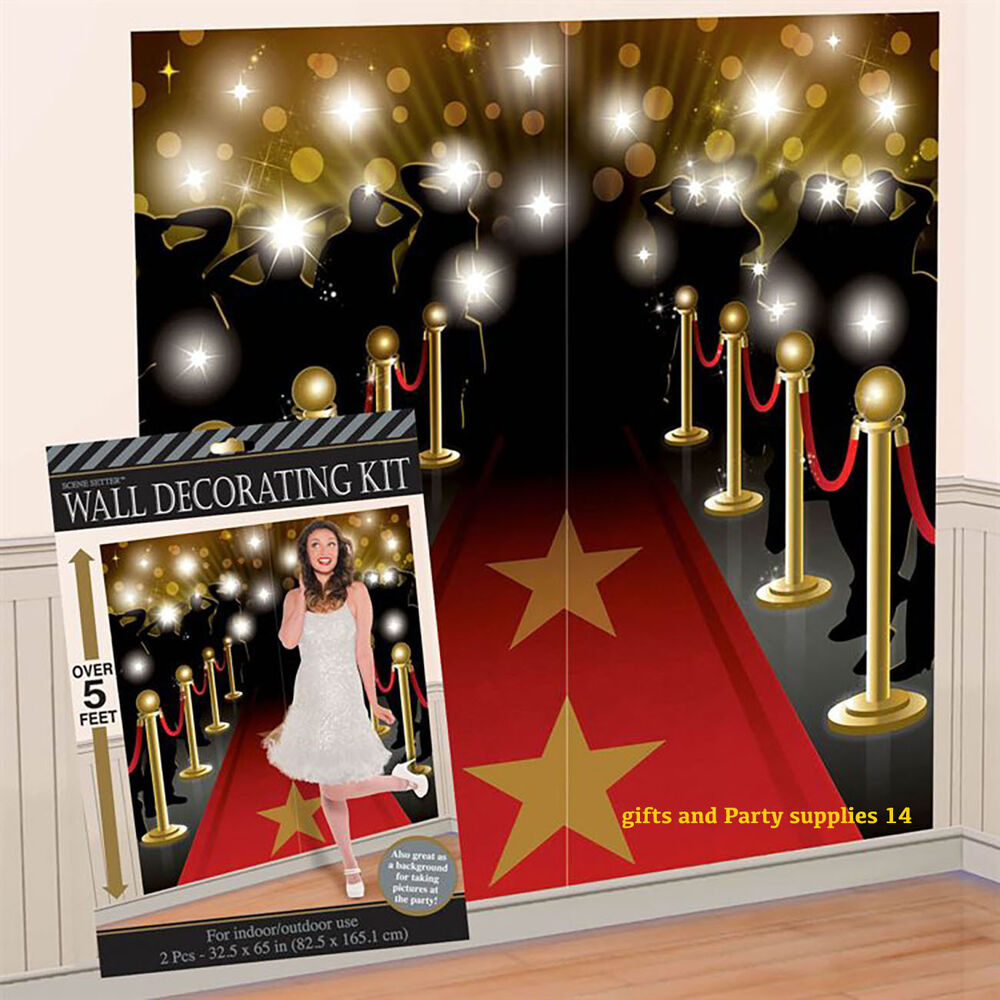 Hollywood movie premier scene setter wall decoration for Hollywood party dekoration