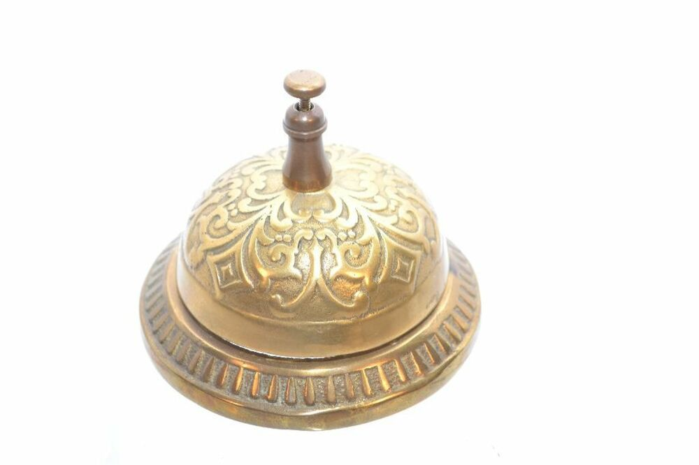 Vintage Brass Service Bells Victorian Decor Hotel Counter