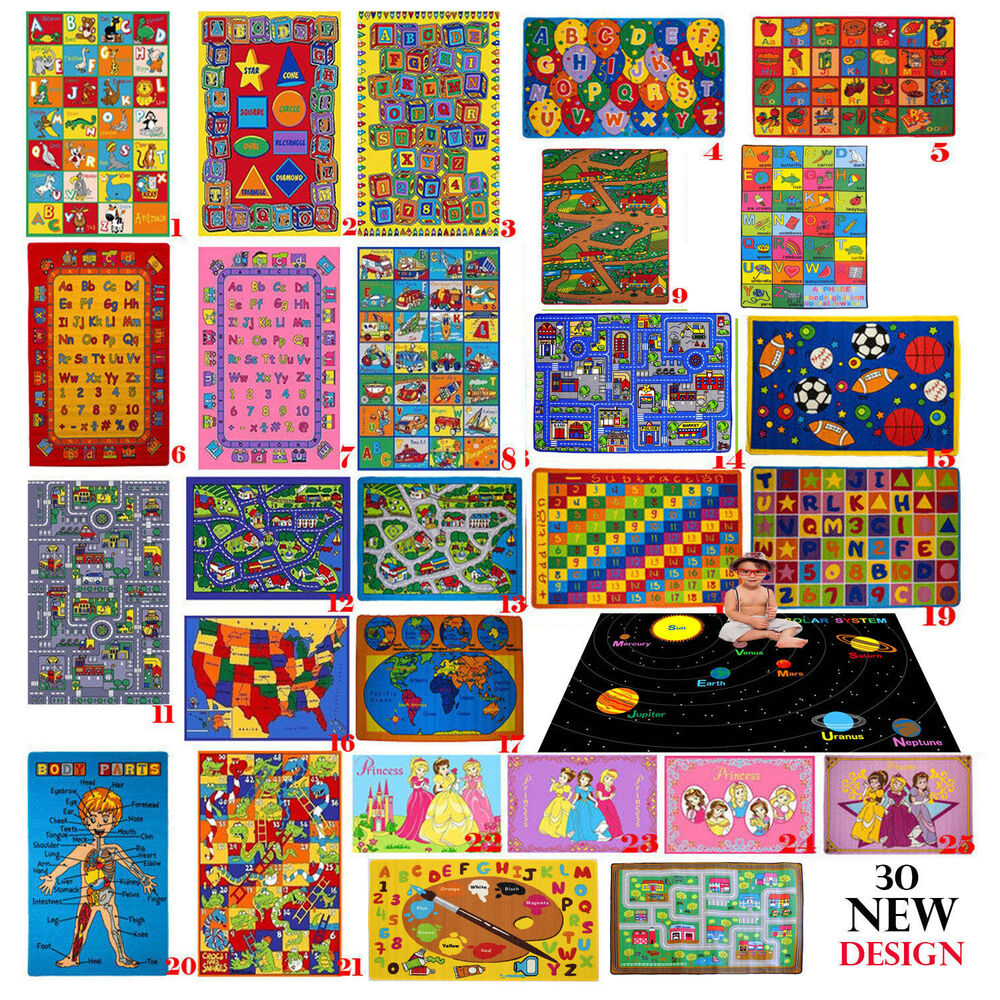 Educational Rugs Cheap: KIDS CHILDREN SCHOOL CLASSROOM BEDROOM EDUCATIONAL RUG NON