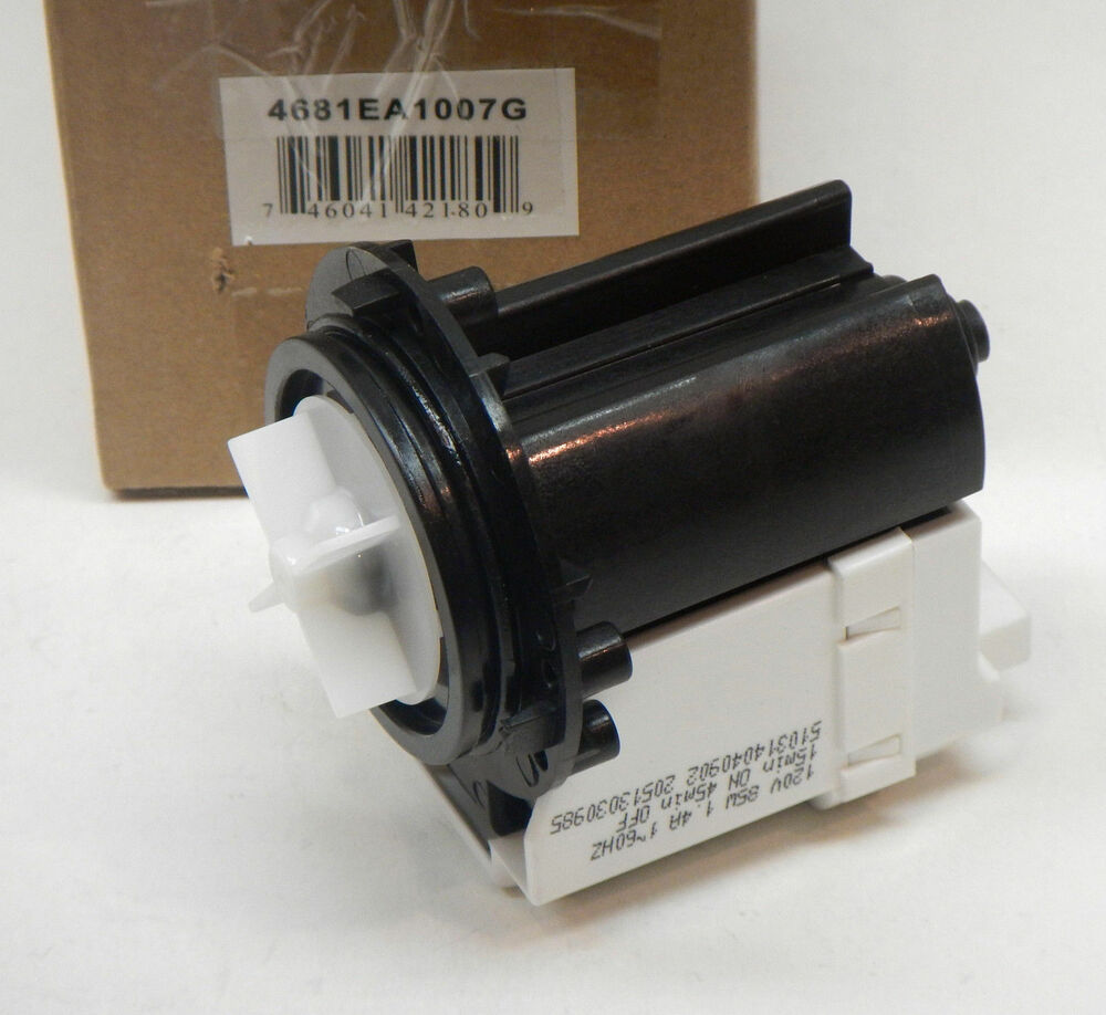 4681EA1007G Water Drain Pump for LG Washer Washing Machine ...