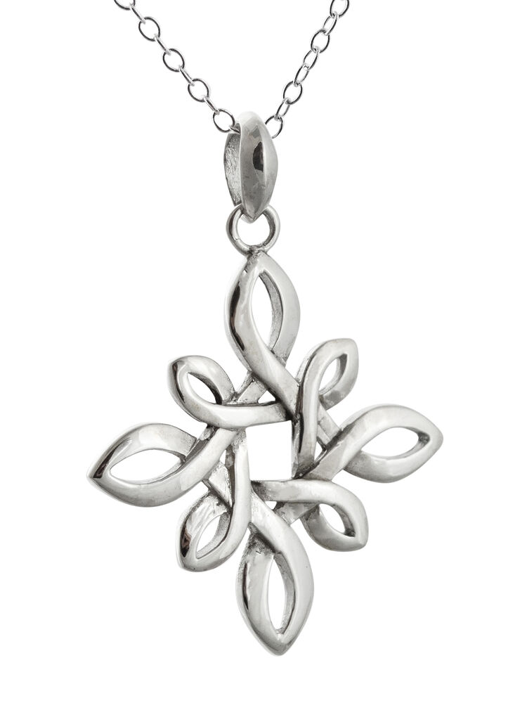 Celtic Knot Pendant Necklace 925 Sterling Silver