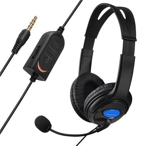 wired stereo gaming headset headphone w microphone for. Black Bedroom Furniture Sets. Home Design Ideas