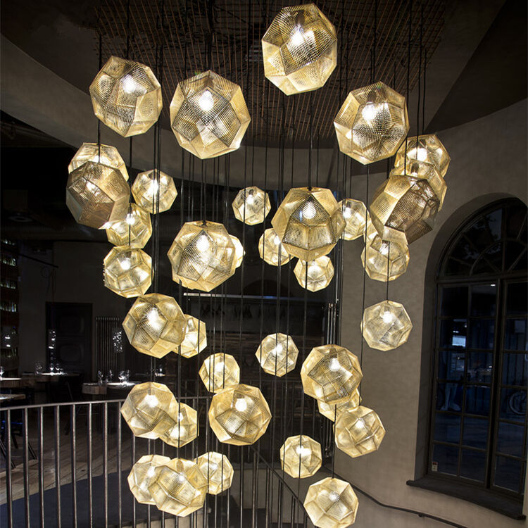 Lighting Lamp: Tom Dixon Etch Pendant Lamp Suspension Light Ceiling