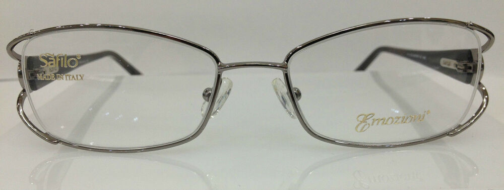 0ff48e54d16 Details about SAFILO EMOZIONI 4324 0NME GUNMETAL EYEGLASSES FRAME AUTHENTIC  51-17-130 NEW RX