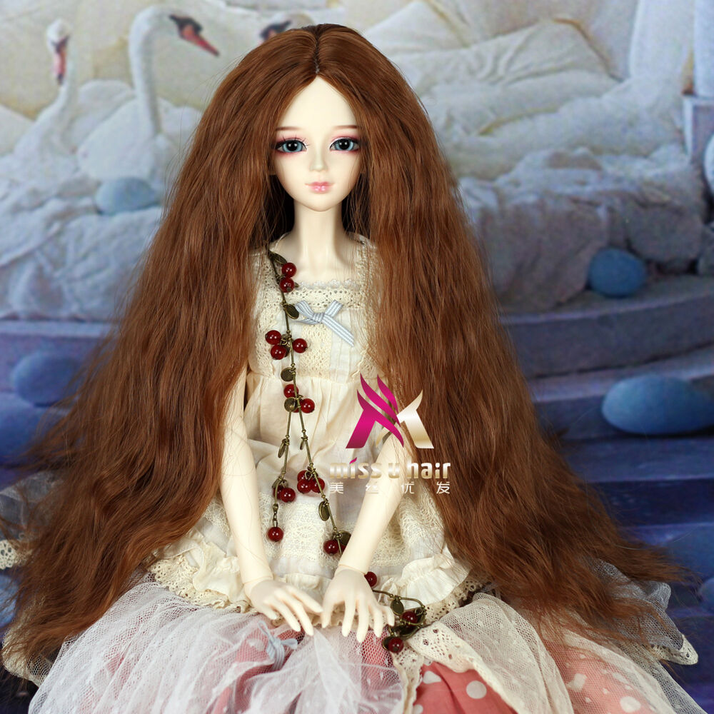 1 4 1 3 1 6 Bjd Wig Hair Long Curly Brown Color Bjd Wig Sd
