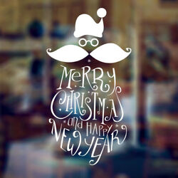 Merry Christmas Decorative Vintage Home Shop Window Wall Sticker Graphic Sign