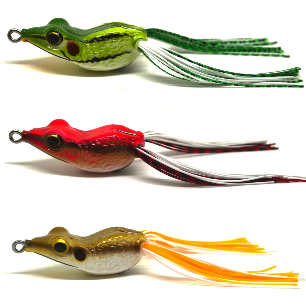 3pcs bass snakehead fishing soft bait lure frog floating for Fly fishing lures for bass
