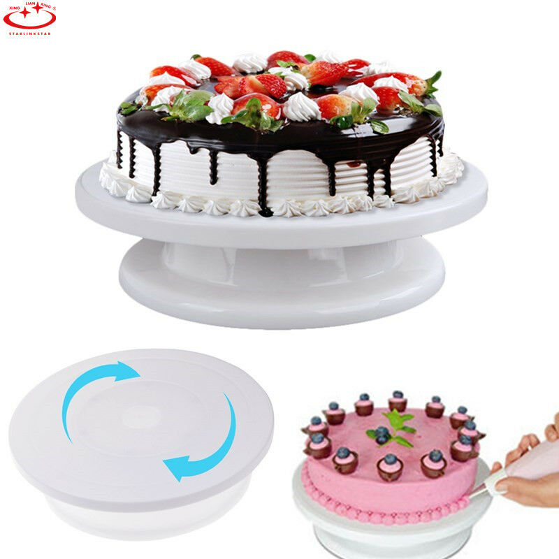 revolving cake stand cake decorating turntable rotating revolving icing kitchen 7084
