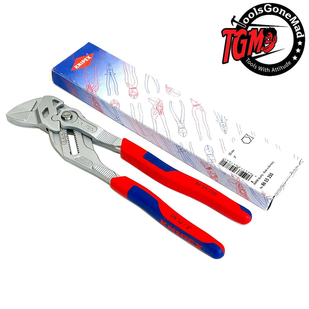 """KNIPEX 86 05 250 250MM 10"""" ADJUSTABLE PLIERS WRENCH SET ..."""
