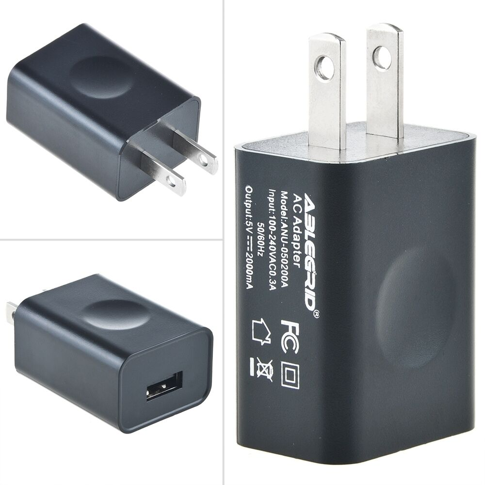 Ablegrid 5V 2A USB Port Wall Adapter Charger for Power ...