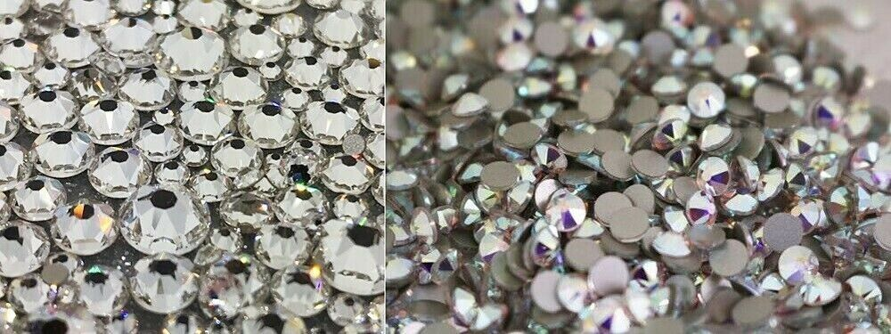 All size swarovski crystals non hotfix flat back for nails for Crystal fall