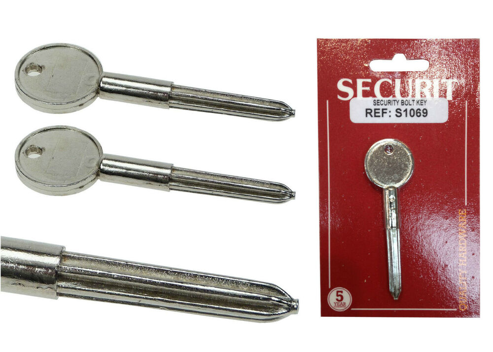 Security Door Bolt Key For Star Rack Bolts Silver