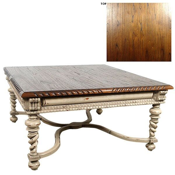 Square Cocktail Table Coffee Table Continental Parchment