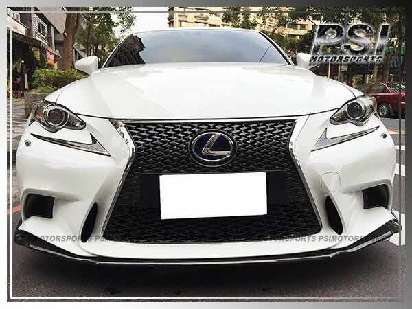 2013 lexus vip type carbon fiber front lip is250 is300h is350 w f sport bumper ebay. Black Bedroom Furniture Sets. Home Design Ideas
