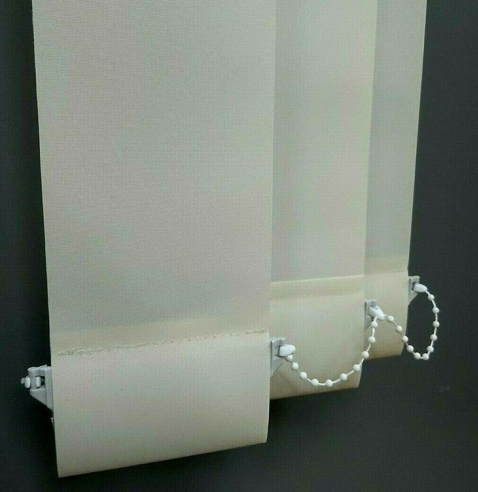 Replacement Vertical Blind Slats Cream Off White 127mm 5