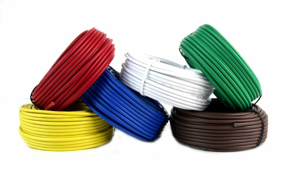 trailer light cable wiring for harness 50ft spools 14 ... jvc radio wiring harness colors