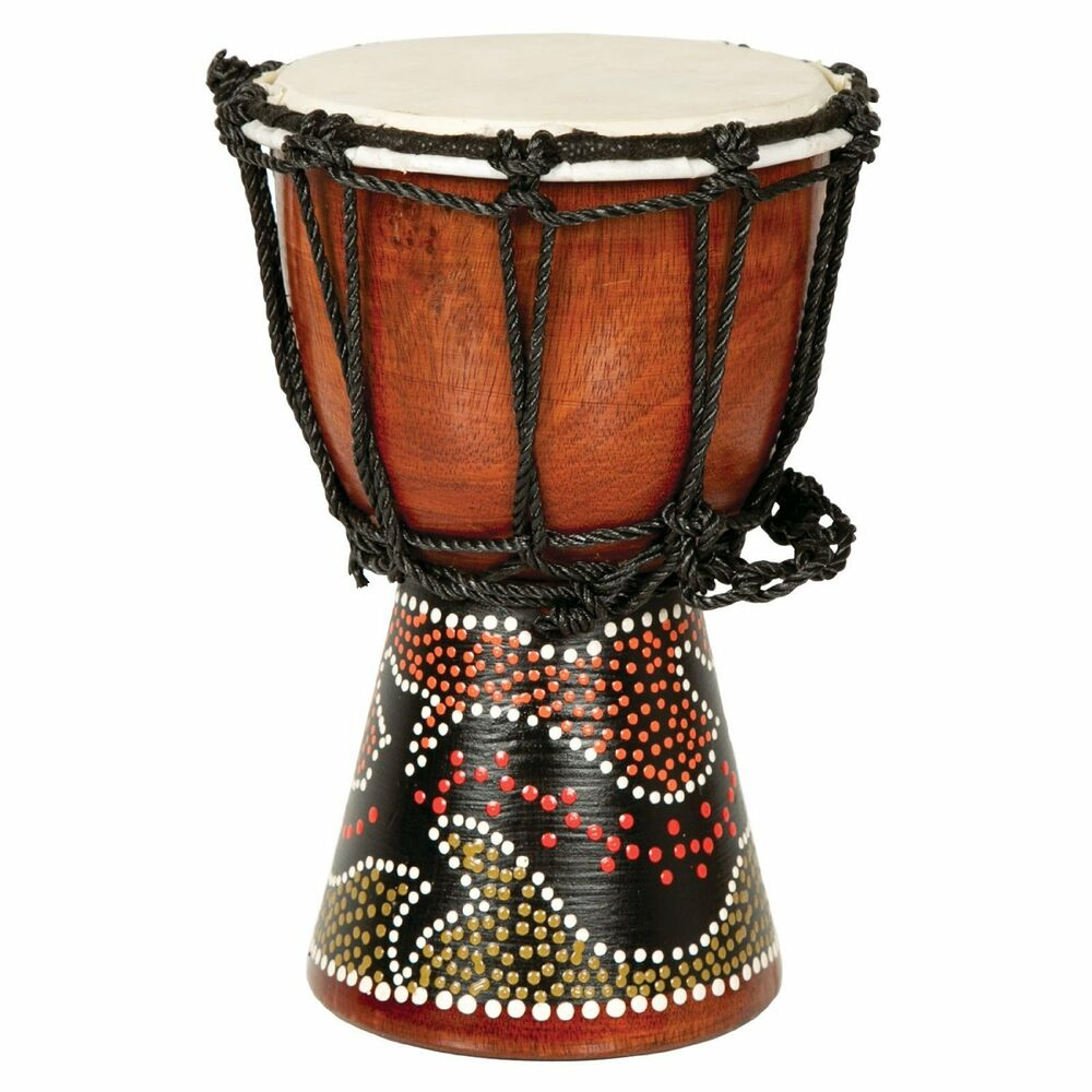 12 quot  african musical instrument tribal djembe drum with painted design ebay drum set clip art bing images drum set clipart silhouette