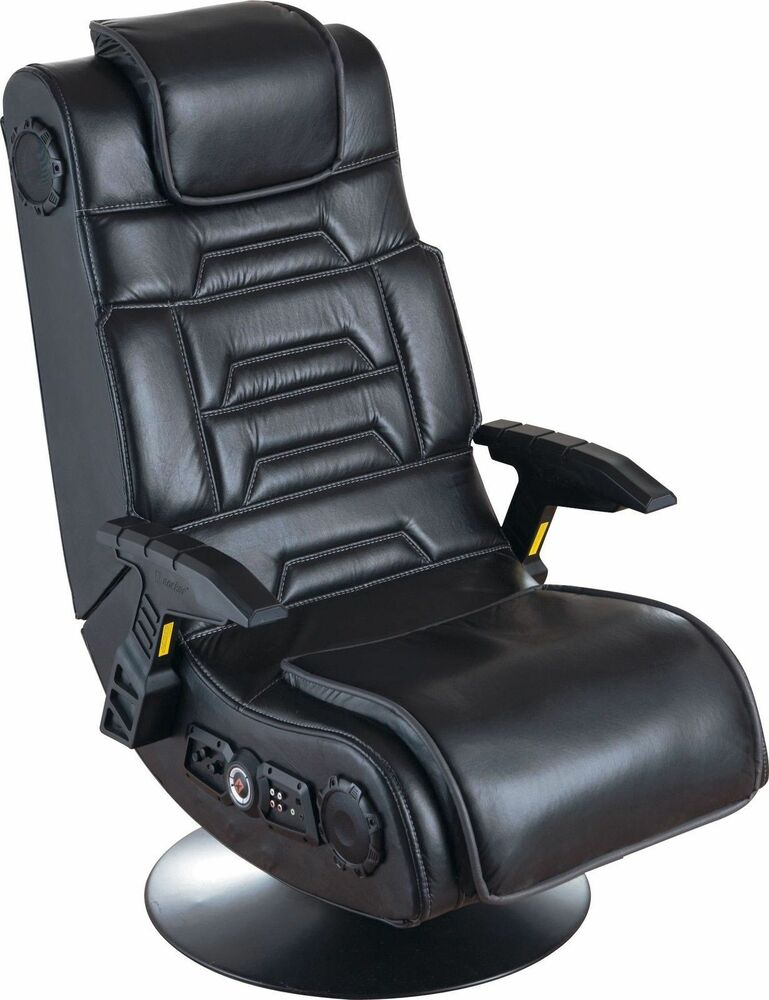 used x rocker pro gaming chair with 2 1 wireless sound system ebay. Black Bedroom Furniture Sets. Home Design Ideas