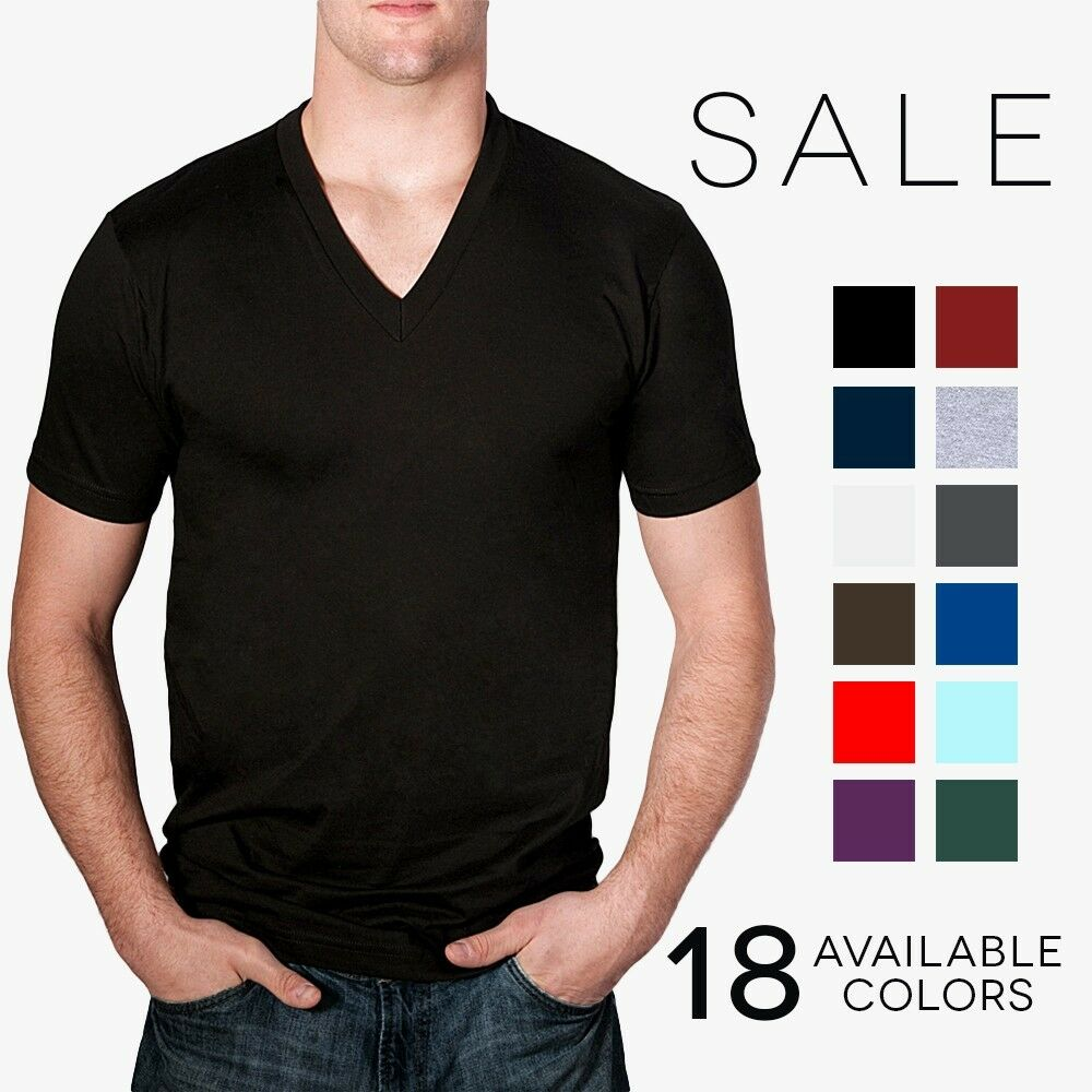 American apparel 2456 v neck t shirt basic tee shirt short for American apparel plain t shirts bulk