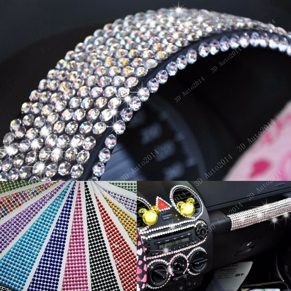 Decorative Rhinestone Stickers : Pcs bling crystal diamonds rhinestone car phone