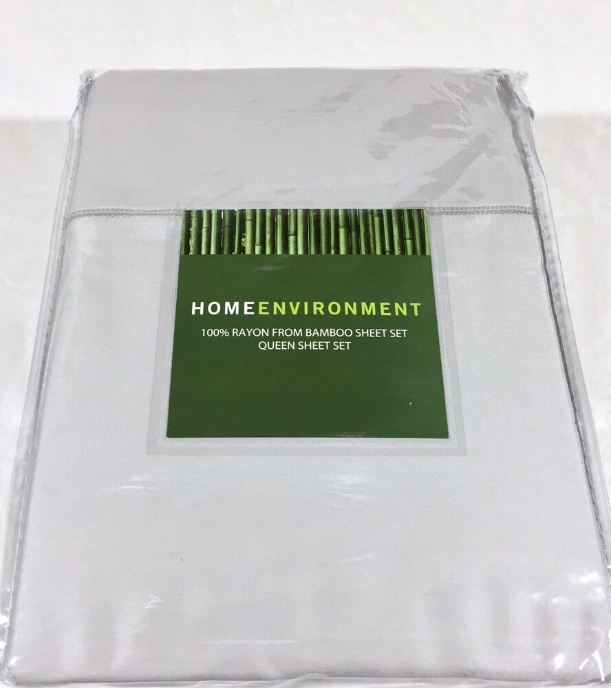 350 Home Environment 100 Bamboo Twill 4pc Sheet Set