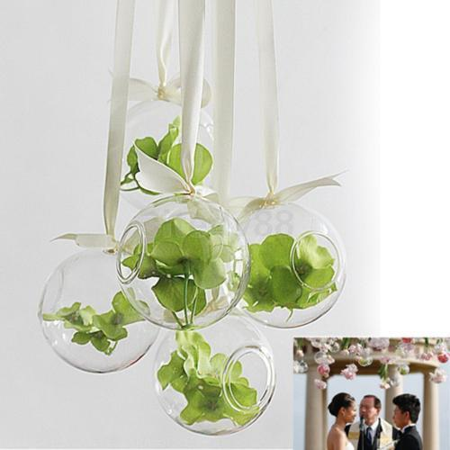 10x globe ball glass hanging plant terrarium flower vase pot wall wedding decor ebay. Black Bedroom Furniture Sets. Home Design Ideas