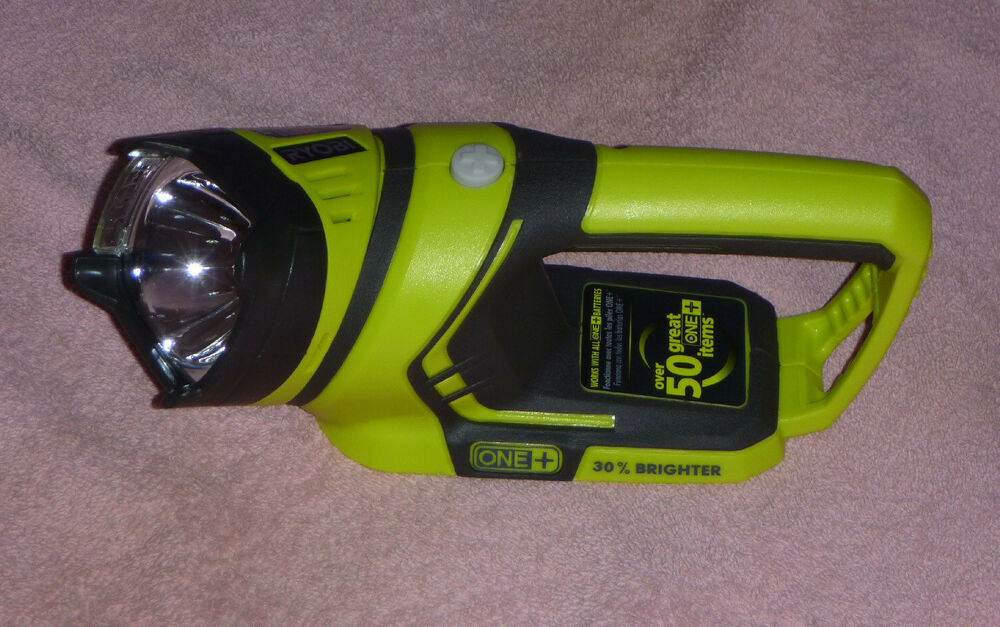 Ryobi One P704 18v Lithium Flashlight With 1w Led Bulb
