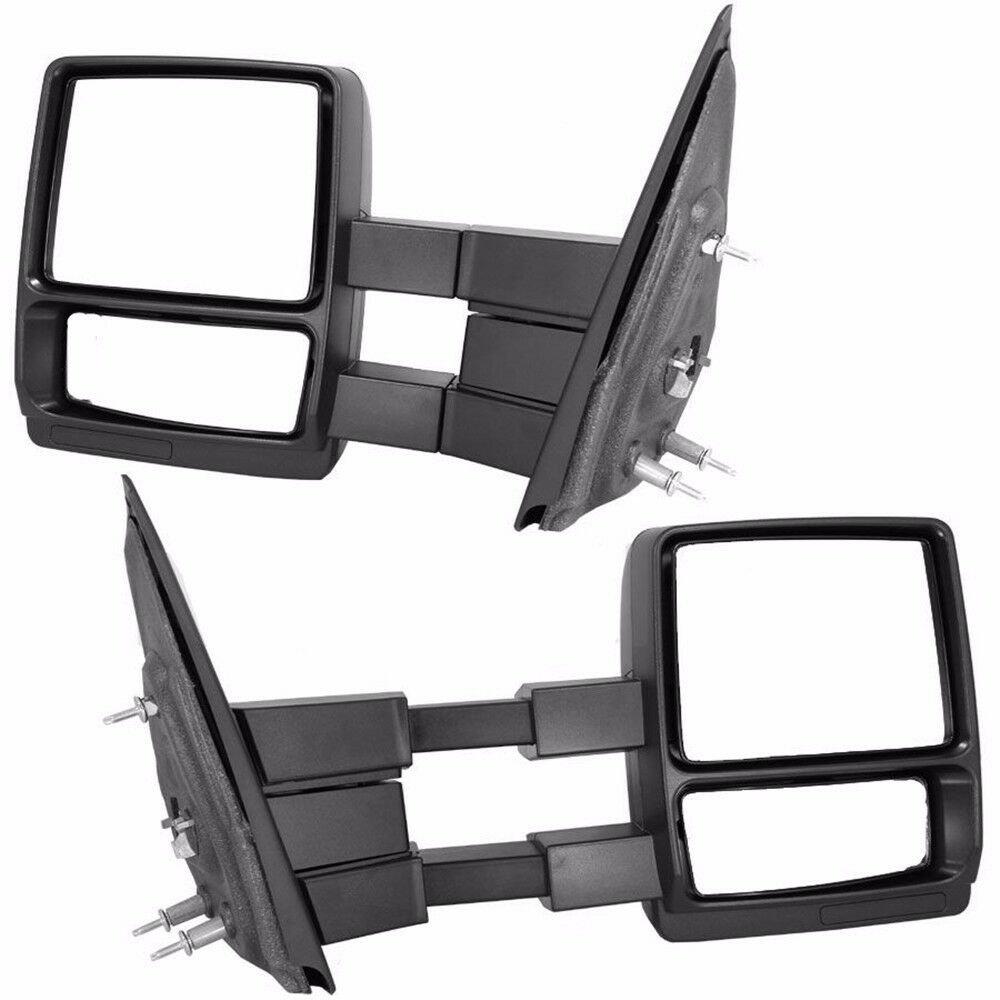 Vehicle Towing Mirrors : Manual ford f pickup truck towing telescoping