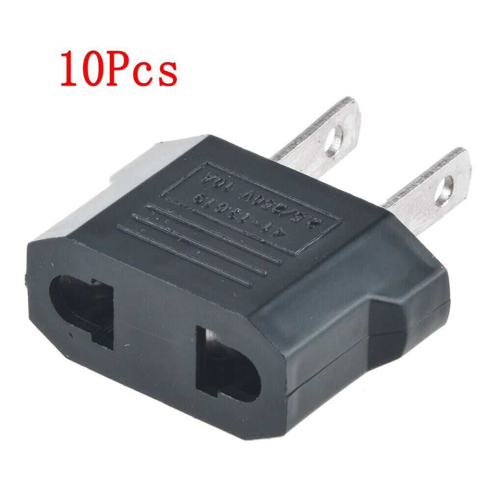 10pcs european euro eu to us usa travel charger adapter. Black Bedroom Furniture Sets. Home Design Ideas