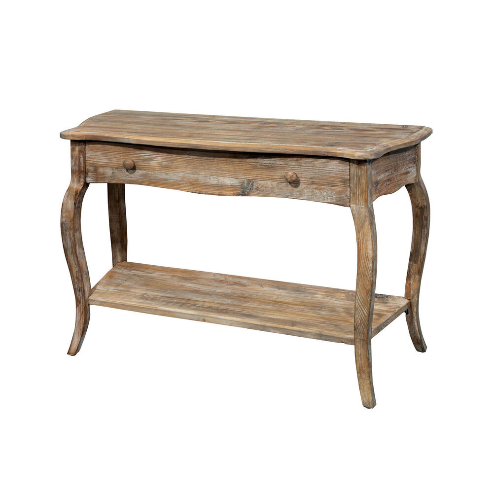 Wooden Couch End Tables ~ Rustic reclaimed wood sofa quot console table living room