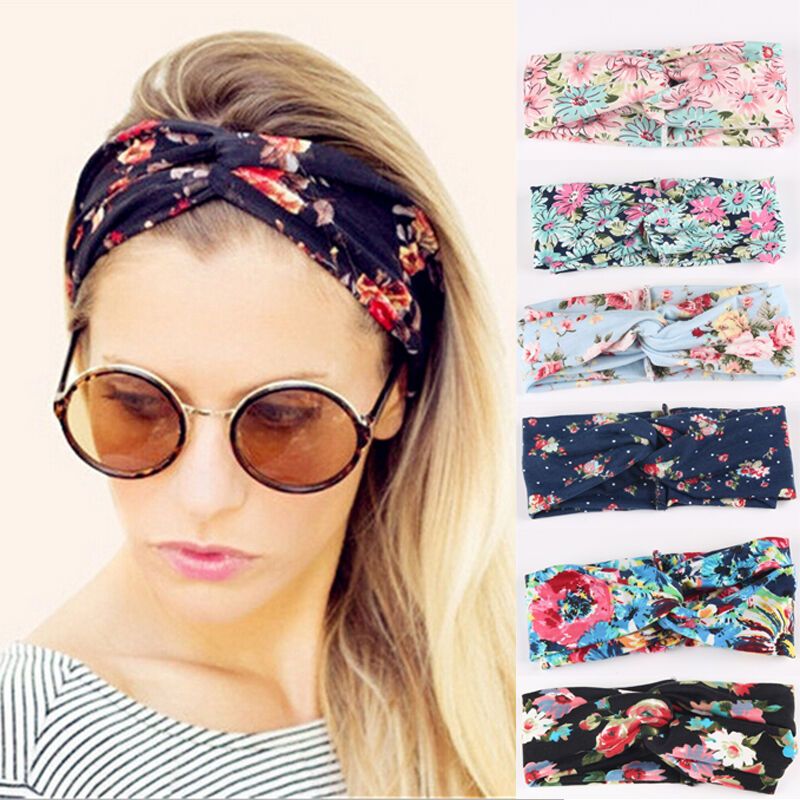Fashion Women Turban Twist Knot Head Wrap Headband Twisted