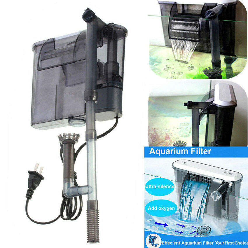 Ultra silence hang on external fish tank aquarium slim for Fish tank filtration