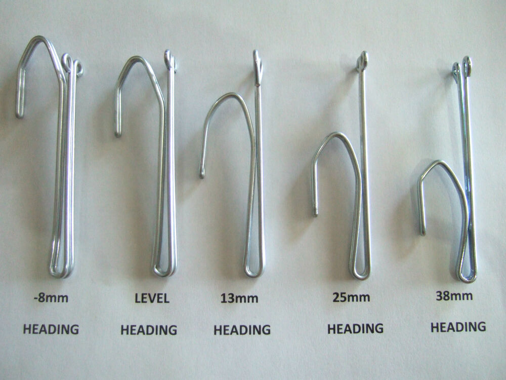 Pinch Pleat Curtain Hooks 5 Sizes Various Amounts Ebay