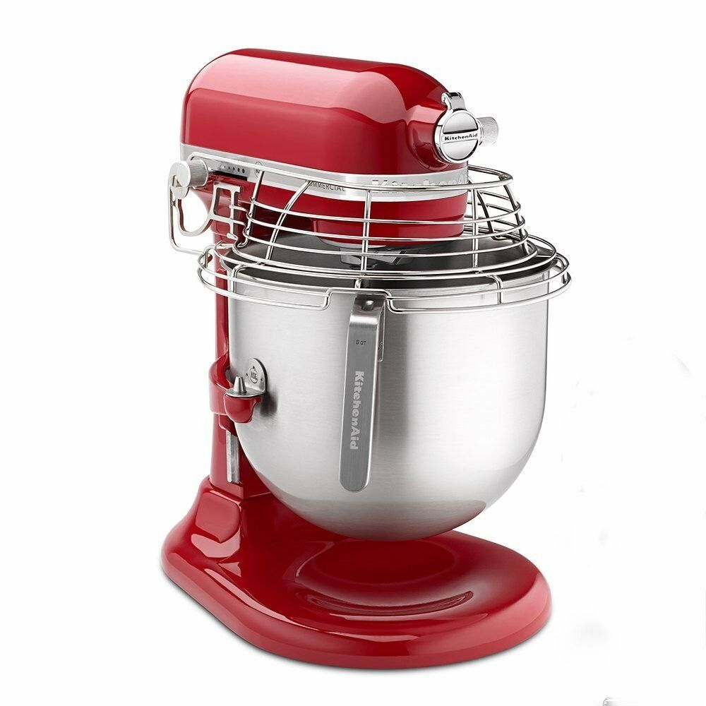 kitchenaid 4 1 2 quot red stainless steel new kitchenaid ksmc895er commercial stand red mixer 8 quart qt stainless steel 883049332864 ebay 8709