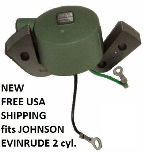 ignition coil for 18hp evinrude fastwin 1951 1972 3hp johnson seahorse 50 76 ebay. Black Bedroom Furniture Sets. Home Design Ideas